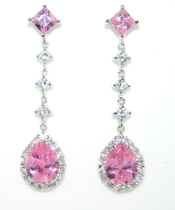 1000: 8 CT LAB PINK AND WHITE SAPP SILV