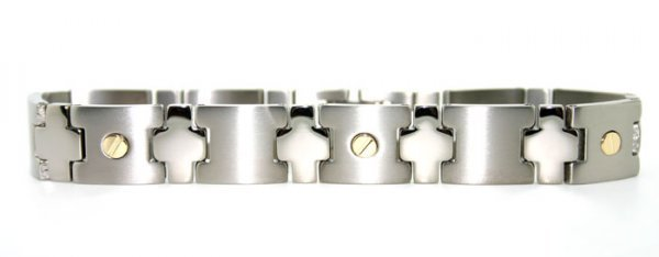1006: Mens titanium bracelet