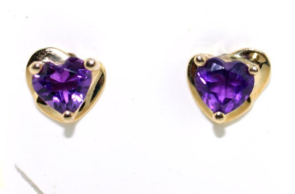 3003: AMETHYST GOLD EARRINGS
