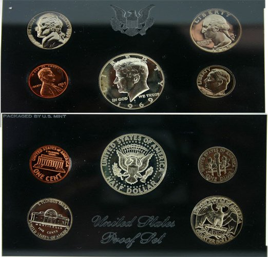 3016: 1969 U.S. MINT PROOF SET