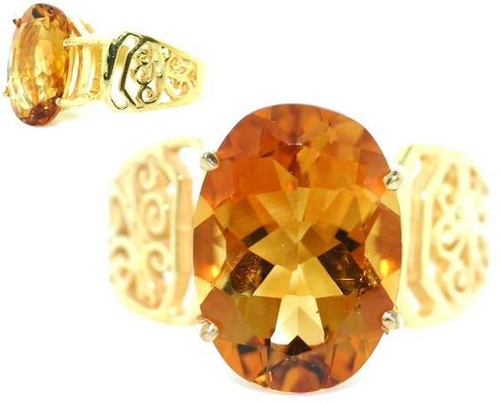 4002: 6 CT CITRINE GOLD/SILVER