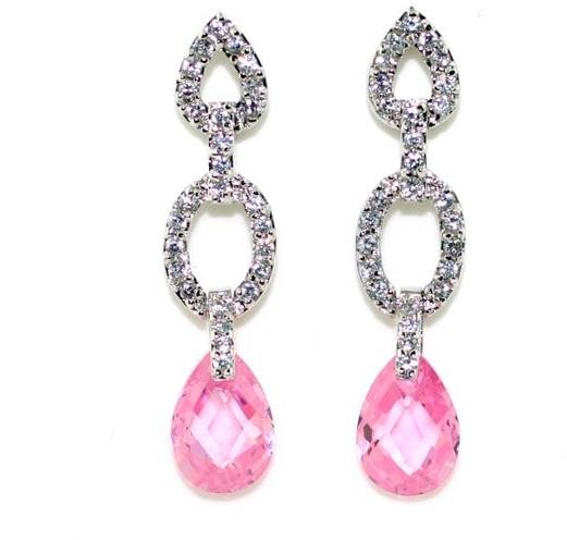 4010: 4 CT LAB PINK AND WHITE SAPP SILVER