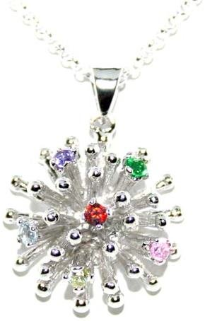 5001: STERLING SILVER COLOR GEM PENDANT