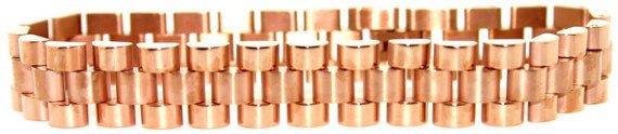 1002: 18k rose gold over titanium mens bracelet