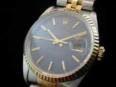 1169: Men's ROLEX 18K/Steel Date just Watch