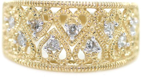 3001: 14K GOLD DIAMOND RING