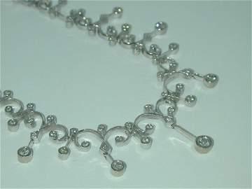 3672: 5 CT DIAMOND NECKLACE
