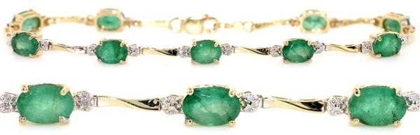 4007: 4 CT DIA AND EMERALD 14K 5 GR