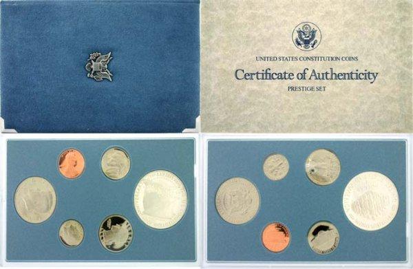 2011: 1987 PRESTIGIOUS U.S. CONSTITUTION COIN SET