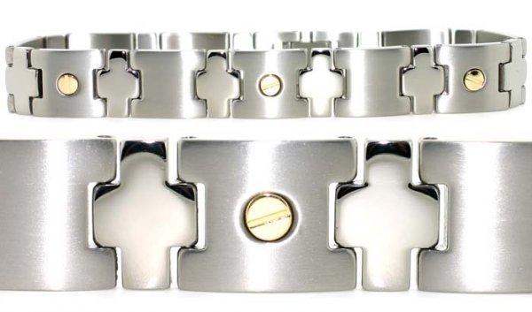 2018: Mens 18k/titanium bracelet