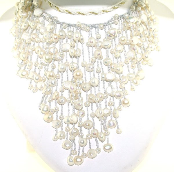 4127: 3-7mm FRESH WATER PEARL NECKLACE 14K