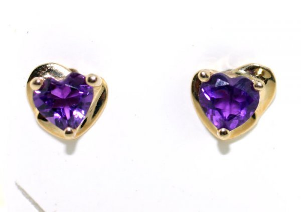 1003: AMETHYST GOLD EARRINGS