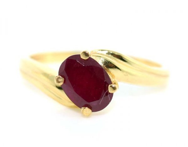 2001: 1 CT RUBY GOLD/SILVER RING