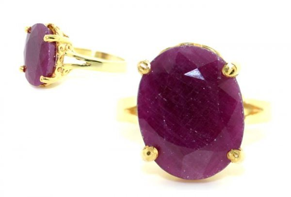 2003: 7 CT RUBY GOLD/SILVER