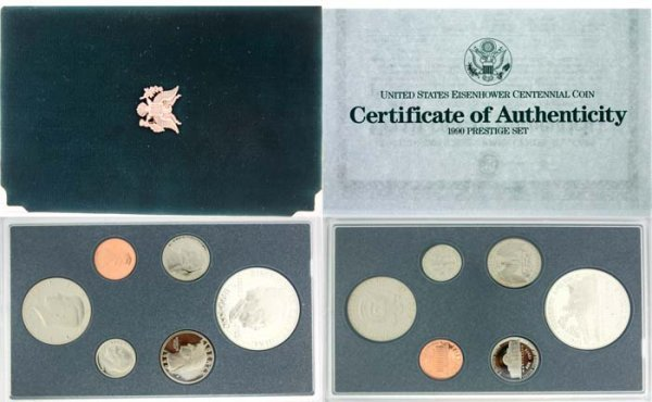 2017: 1990 PRESTIGIOUS EISENHOWER CENTENNIAL COIN SET