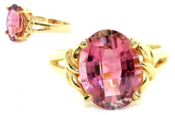 2022: 4 CT PINK TOURMALINE GOLD/SILVER