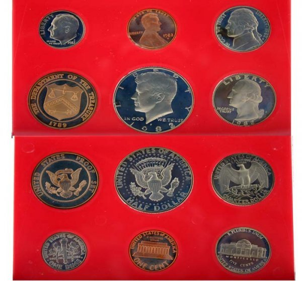 1004: 1982 U.S. Mint Proof Set