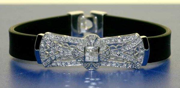 3007: 1.10 CT DIAMOND RUBBER BRACELET 14K