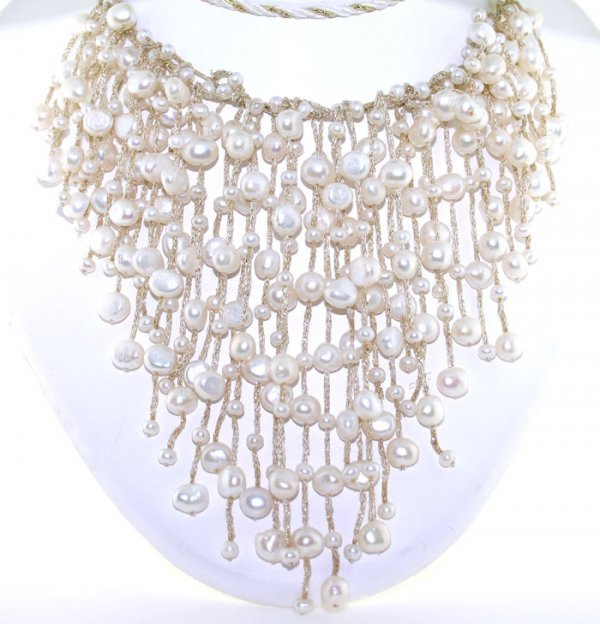 3012: 3-7mm FRESH WATER PEARL NECKLACE 14K