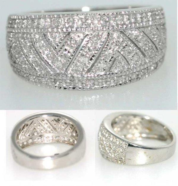 3015: 0.5 CT DIAMOND RING SILVER 7GR
