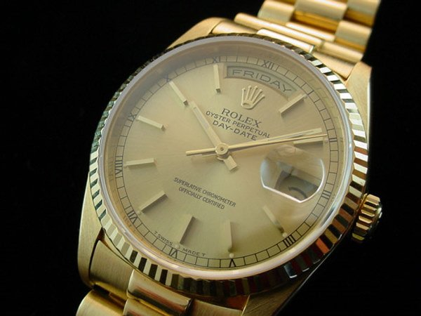 5366A: 1991 MENS ROLEX SOLID 18K PRESIDENT