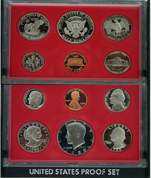 5017A: 1980 U.S. MINT PROOF SET