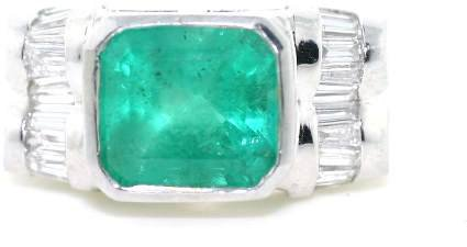 5364A: 5 CT DIA AND EMERALD PLATINUM 19GR
