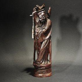Christie's Silver Inlaid Redwood Figure