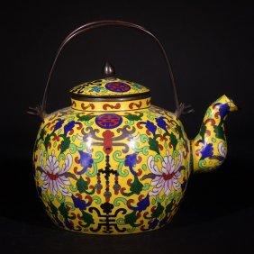 A Cloisonne Enamel Pot