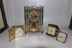 Group lot of 11 vintage clocks. 3 carriage clocks