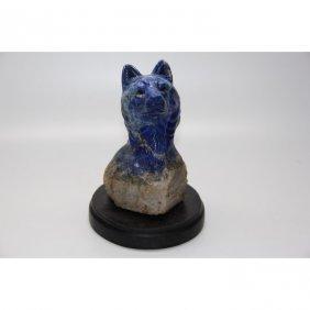Lapis Lazuli Stone Carving, Cheetah
