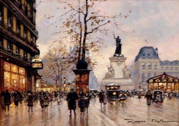 Jacques MULLER;, French artist Antique, Paris
