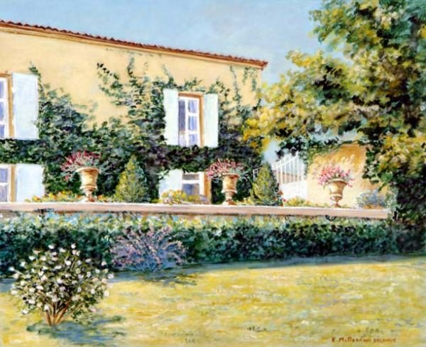 Edwige Mitterrand French Painting  Les Pots Medicis