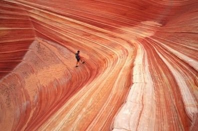 Peter Guttman PhotoHiker in a Remote Slot Canyon (2002)
