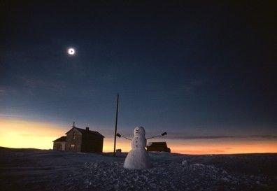 Peter Guttman  Total Solar Eclipse and Snowman (1979)