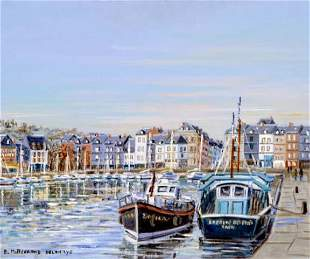 Edwige Mitterrand, French Paintings Honfleurs en