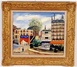 Elysee Maclet, Paris Painting French, Antique