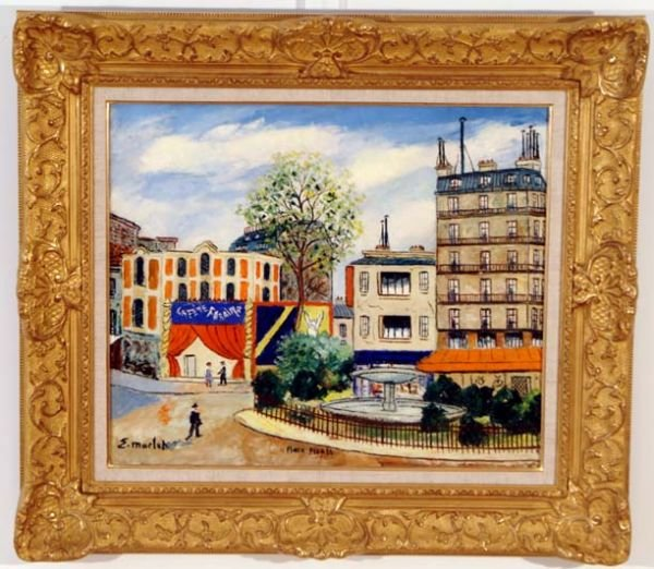 Elysee Maclet, Paris Painting French, Antique