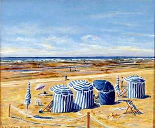 Edwige Mitterrand, French Painting, Normandy