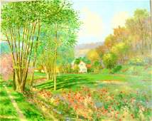 1521: Claude Cambour Impressionist Style French paintin