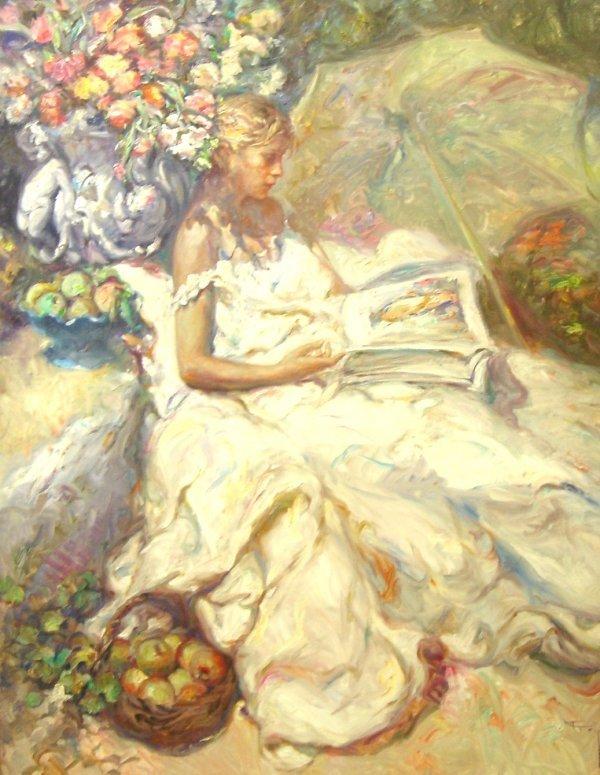 """1591: ROYO """"Rare""""Original Painting 57'x47 Spanish Post"""
