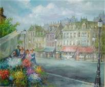 579: Americo Makk original Oil on Canvas 24'x37'