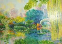 193: Claude Cambour Impressionist Style, Monet's Garden