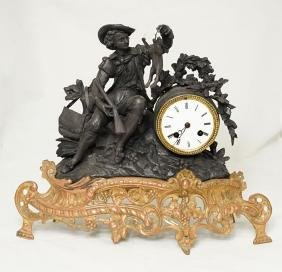 French Clock, T & S Mantel Clock, By Japy Freres