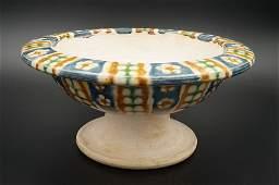 Tang Dynasty Sancai Stemmed Bowl