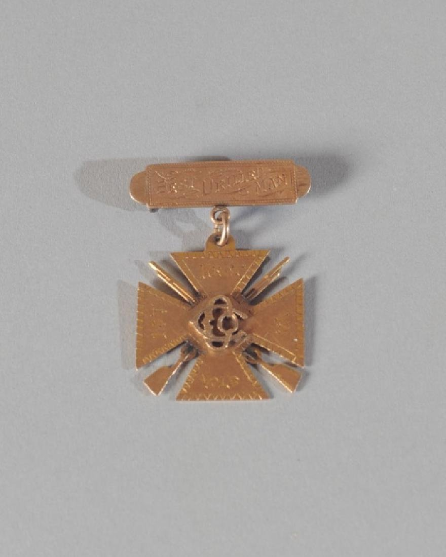 Civil War 1st Regiment VA Volunteer's Gold Badge