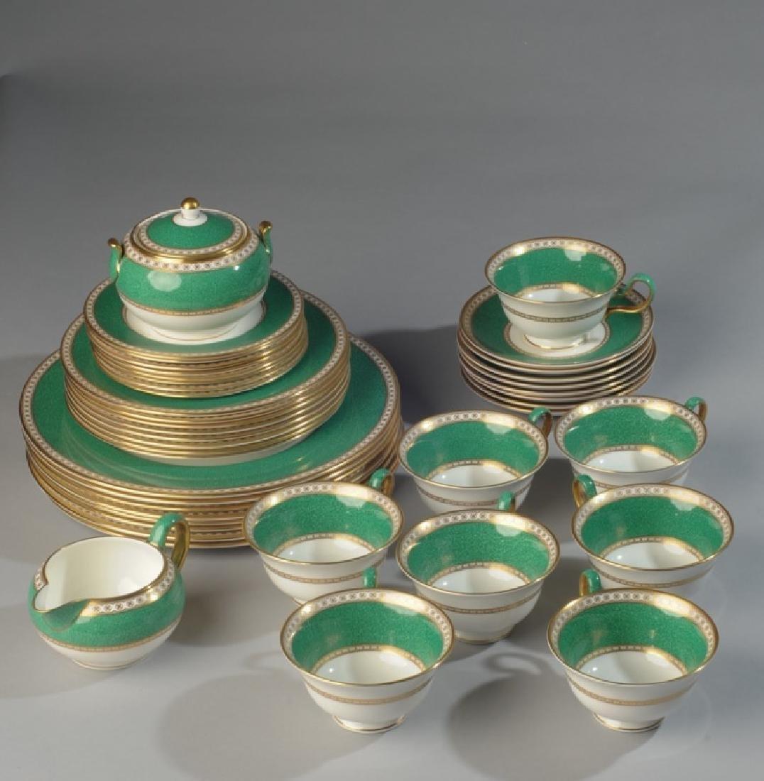 Set Wedgwood Ulander Green Bone China