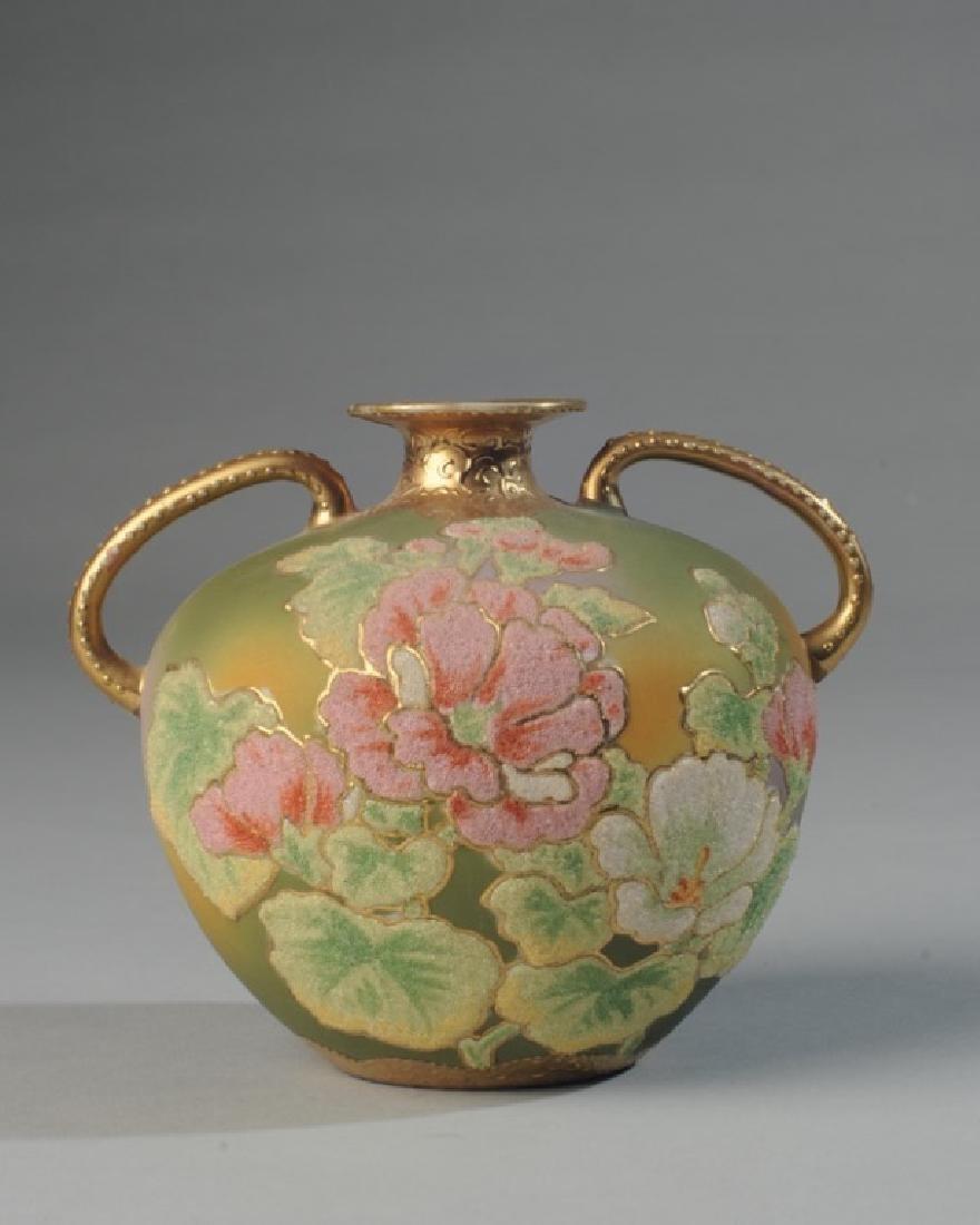 Japanese Coralene Vase