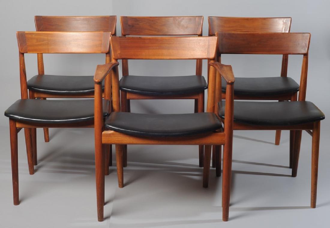 Set of Six Rosengren Hansen Danish Dining Chairs