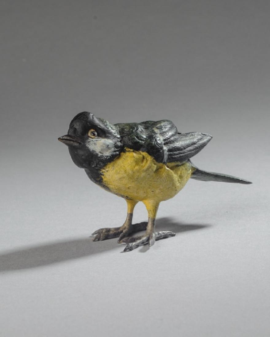 Vienna Cold Painted Bronze Finch
